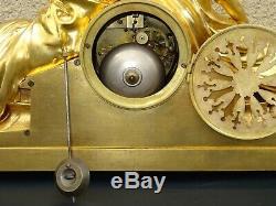 Pendulum Somewhat Dated Gilt Bronze Charles X Clock Nineteenth