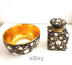 Perfume Bottle And Porcelain Cup, Late Xix. Very High Quality