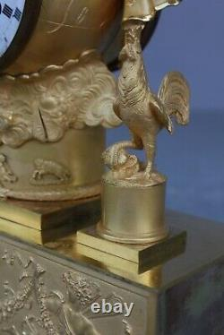 Period Pendule Empire Representing The Aurore Xixth
