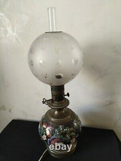 Petroleum Lamp Epoque Xixeme Electrified