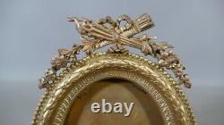 Photo Frame Or Miniature Style Louis XVI In Golden Bronze, 19th Century