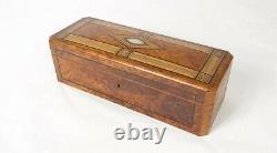 Pinkwood Glove Box Napoleon III 19th Century