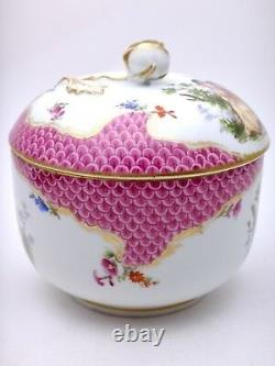 Porcelain Of Meissen Pot Covered 19th Century