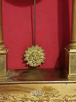 Portico Pendule In Bronze Period 19th Century