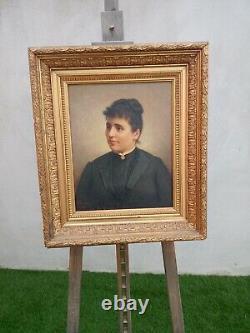 Portrait Former Woman Oil On Canvas Era Xixth Signedrives/1898