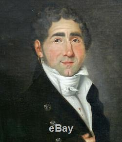 Portrait Of A Man Epoque First Empire French School Of The Nineteenth Century Hst