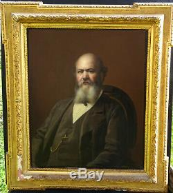 Portrait Of A Man Epoque Second Empire French School Of The Nineteenth Century Hst
