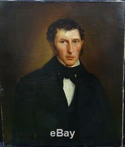 Portrait Of A Man Smeets Epoque Louis Philippe French School XIX Century Hst