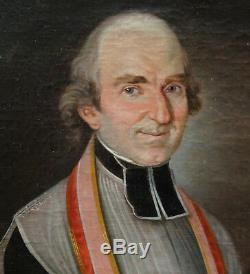 Portrait Of A Priest Restoration Period Early Nineteenth Century Oil On Canvas Priest