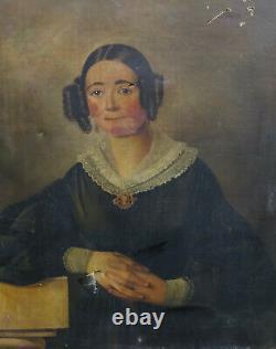 Portrait Of Femme D'epoque Louis Philippe Ecole Française Du Xixème Siècle Pst