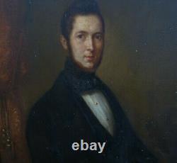Portrait Of Homme Epoque Louis Philippe Ecole Française Of The 19th Oil/panel