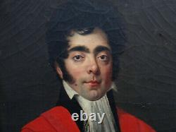 Portrait Of Homme Magistrat Epoque Louis XVIII French School Of The 19th H/t