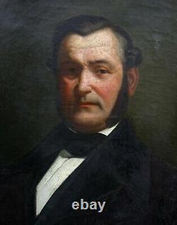 Portrait Of Man Epoque Louis Philippe Ecole Française At The Beginning Of The 19th Hst