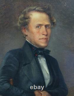 Portrait Of Man Epoque Louis Philippe Ecole Romantique Française Du Xixème Pst