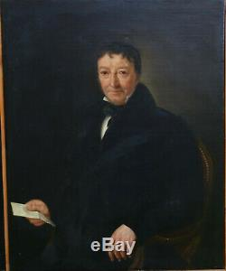 Portrait Of Man Epoque Louis Philippe French School Of The Nineteenth Century Hst