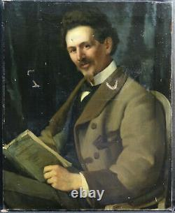 Portrait Of Man Epoque Second Empire Ecole Française Du Xixème Pst