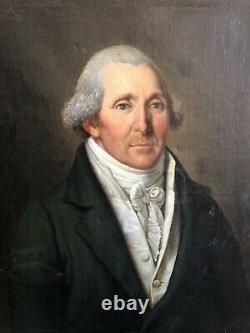 Portrait Of Man Era 1st Empire Swiss School Of The 19th Century 1809