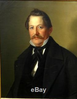 Portrait Of Man Second Empire Period Oil On Canvas Nineteenth Century