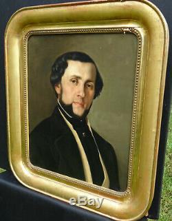 Portrait Of Man Vintage Louis Philippe French School Of The Nineteenth Century Hst