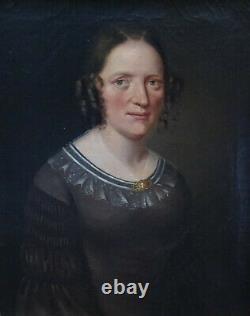 Portrait Of Woman Epoque Louis Philippe Ecole Française Du Xixème Pst