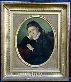 Portrait Of Woman Epoque Napoleon III French School Late Nineteenth Century Pst