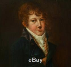 Portrait Of Young Man Era First Empire Hst Early Nineteenth Century