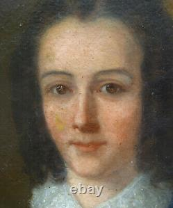 Portrait Of Young Woman Of Epoque Second Empire Oil On Canvas Of The Xixth Century