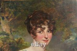 Portrait Titled Miss Johnson From Gainsborough Time Early Nineteenth