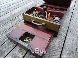 Rare Big Travel Box In Mahogany Signed Lemaire Epoque XIX