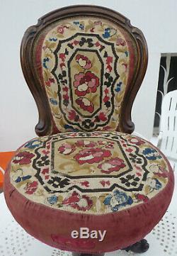 Rare Chair Harpist Napoleon III Nineteenth Swivel Seat To Restore