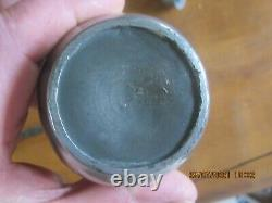 Rare Tin Bottle. The 19th Beginning Of The 20th Century. Not Signed
