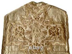 Religiosa Chasuble De Prêtre Embroidery Paramentique Messe Religion Époque XIX Ème