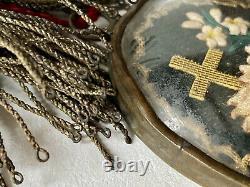 Religiosa Reliquary Ex-voto Sacred Cur Immaculate Jesus Mary Epoch XIX