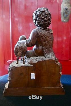 Religious Statue Carved Wood Saint John XIX Century Period Religiosa