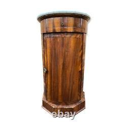 Round Chevet Somno Empire Period 19th Column Furniture Napoleon