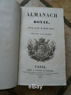 Royal Almanac 1826 Magnificent Binding In Morocco Of The Time