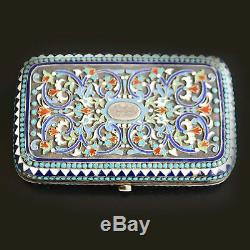 Russian Enamelled Silver Box Nineteenth Time