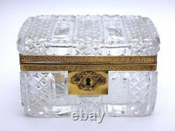 Saint Louis Crystal Box Cut Bronze Mount Era Empire 19th