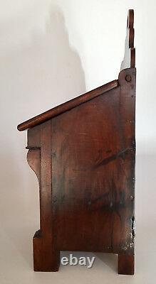 Salt Box At The Beginning Of Xixth Century, Period Furniture Restoration In Solid Walnut, Box