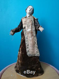 Santon Neapolitan Carved Wood Polychrome Era Nineteenth