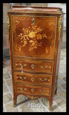 Secretary Old Lady Louis XV Style XIX Deco Era Castle Eighteenth