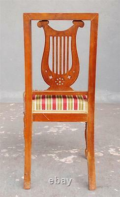 Series Eight Chairs Restoration To The Lyre Era 19th