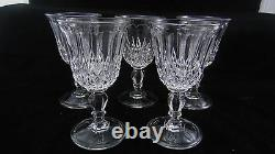 Service Of 5 Glass Water Molded Crystal Baccarat Period XIX Th
