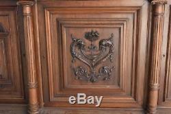 Sideboard Two Walnut Body Style Henry II Era Late Nineteenth