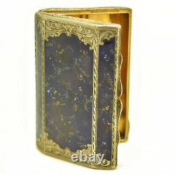 Silver Box And Vermeil And Lapis Lazuli Period 19th Century