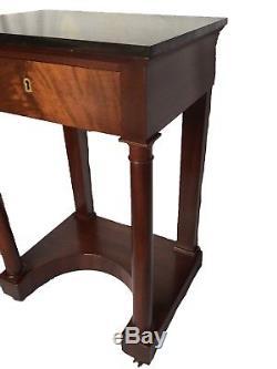 Small Console / Bedside Antique 19th Century Mahogany Empire