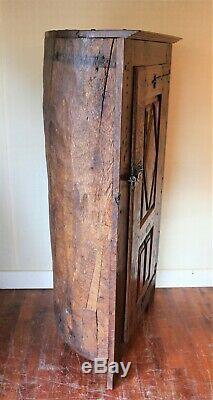 Small Louis XIII Style Furniture Oak Wardrobe Trunk Era Nineteenth Century