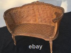 Sofa / Louis XVI Canned Basket Bench, 19th Century Era