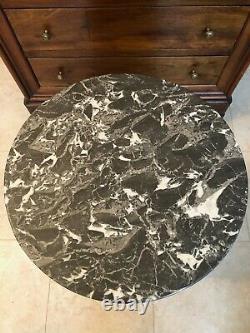 Somno Epoque Empire In Flaming Mahogany. Beautiful Marble, 19th Century