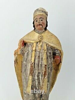 Statue Saint En Bois Doré Era XIX Th S